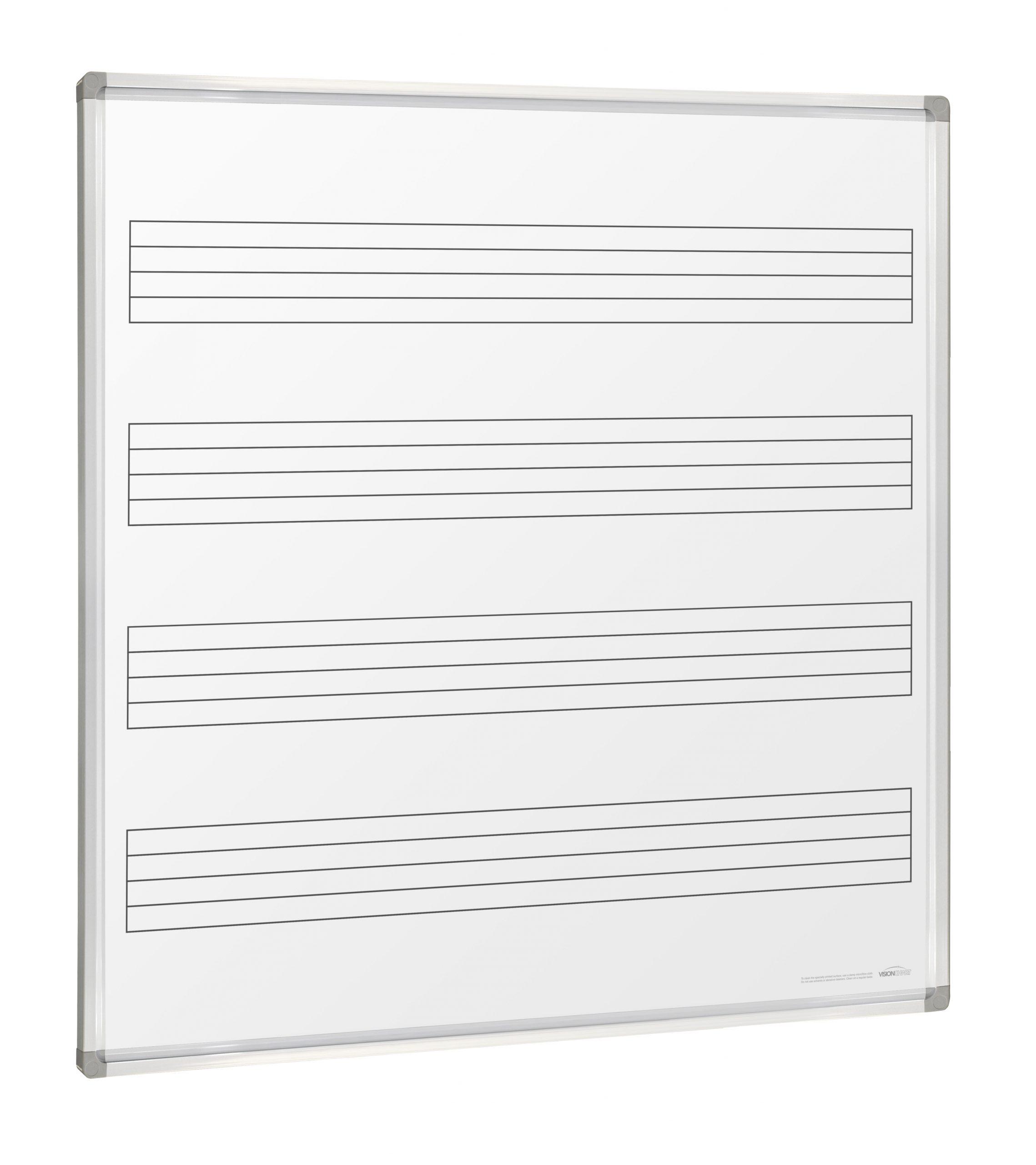 Music Whiteboard Wall Mounted