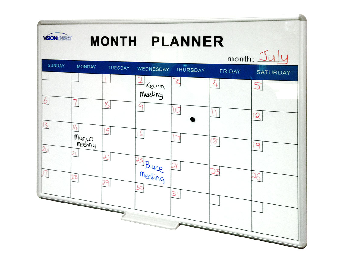 Perpetual Month Planner Whiteboards