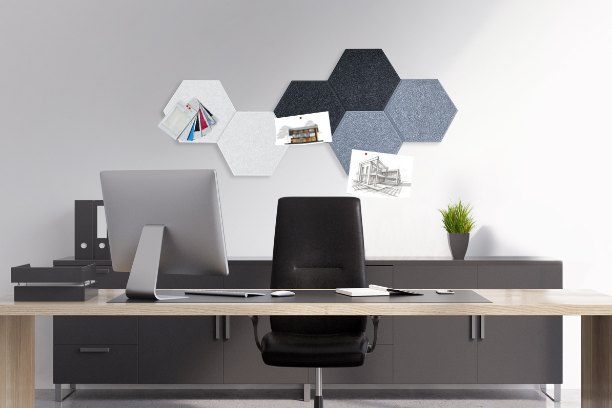 Hexagon Acoustic Pinboards