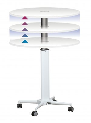 Height Adjustable Breakroom Table